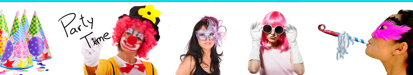 Wigs and masks at Partymania
